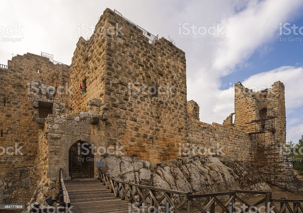The castle of Ajloun stock photo