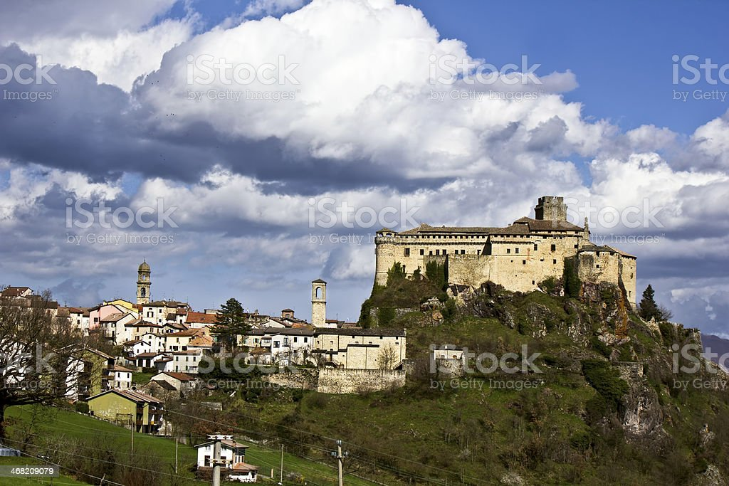 The castle of Bardi stock photo