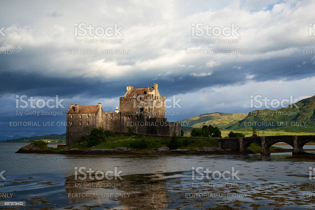 The Castle Of Eilean Donan stock photo