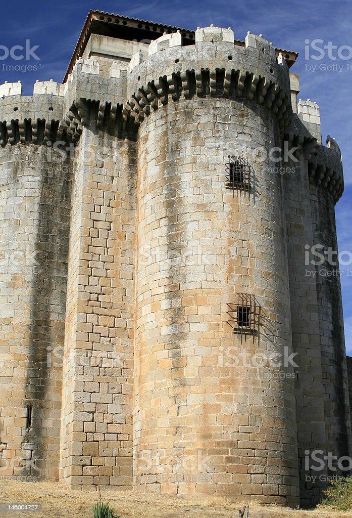 The castle of Granadilla royalty-free stock photo