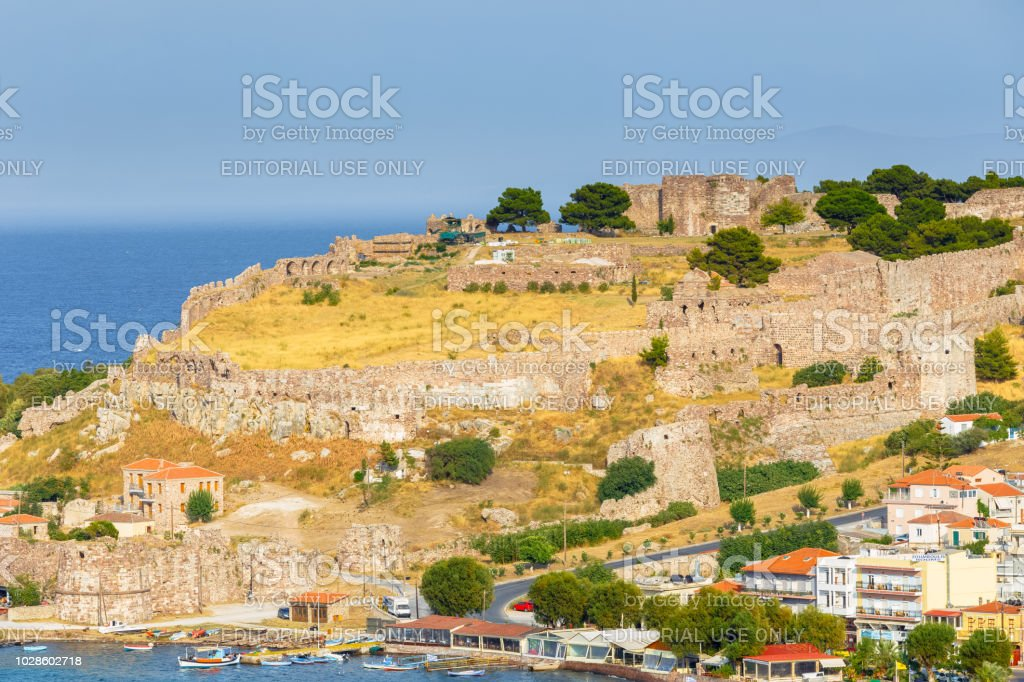 The Castle Of Mytilene In Lesvos Island Greece One Of The Largest