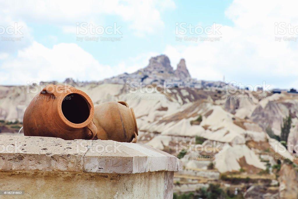 The castle of Uchisar in Cappadocia - Photo