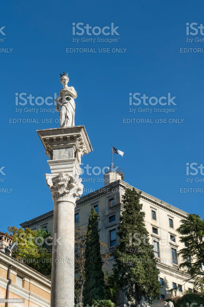The castle of Udine stock photo