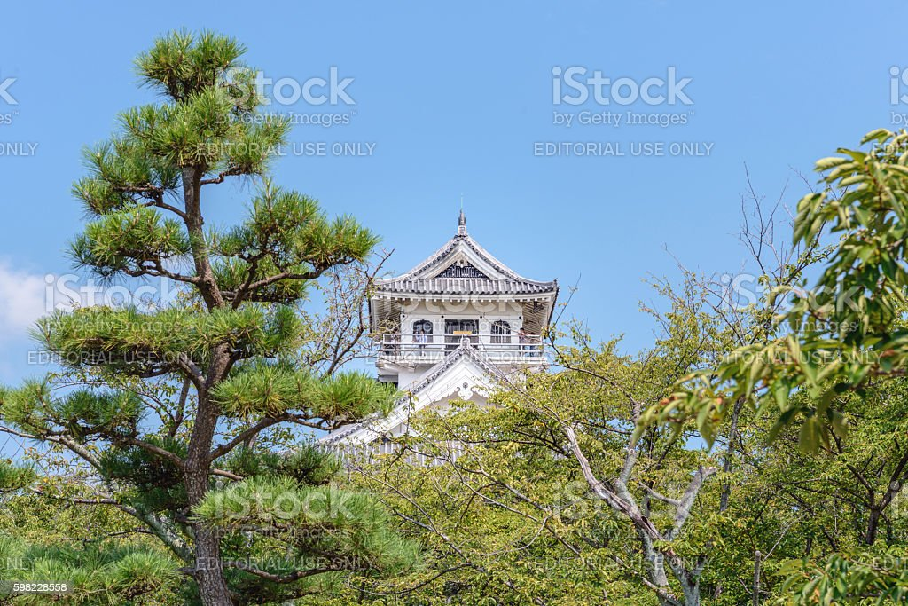The castle tower of the Nagahama Castle foto royalty-free