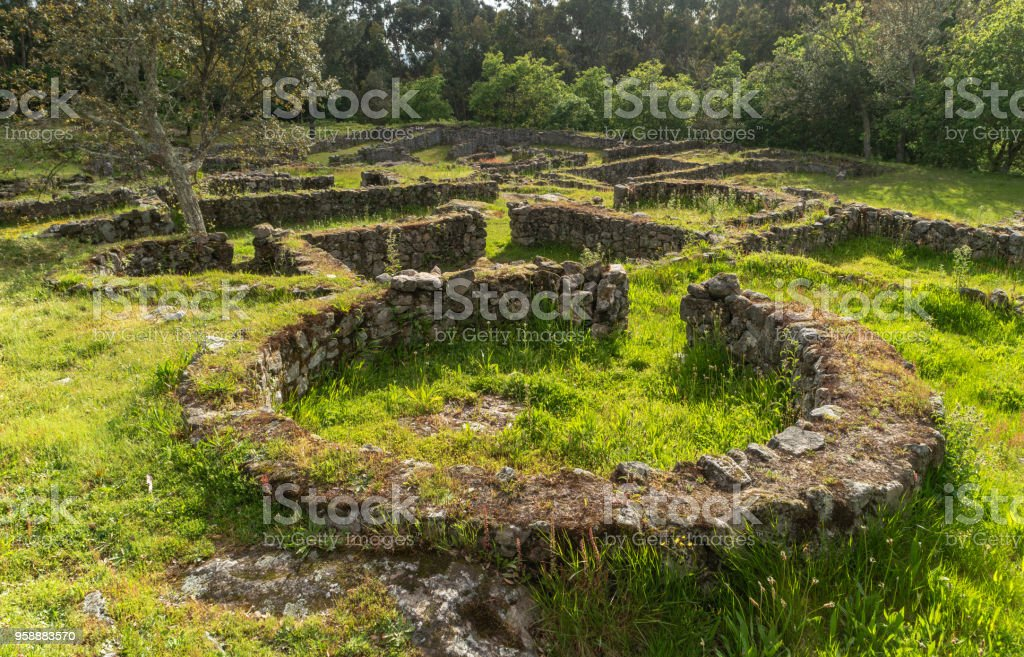 The Castro de Romariz is a fortified settlement dating from the 5th century BC, with occupancy levels up to the first century AD. Romariz - Santa Maria da Feira, Portugal. stock photo