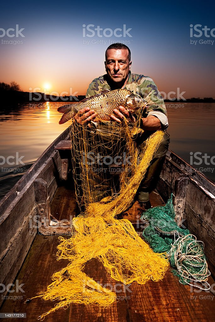 The catch of a fisherman royalty-free stock photo