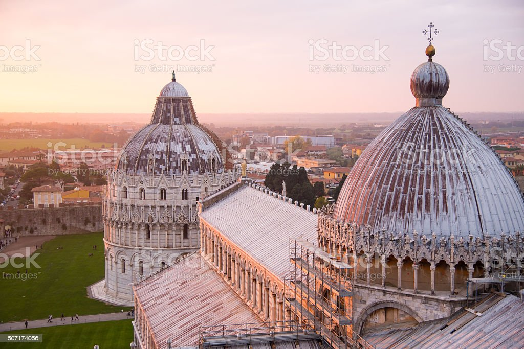 The Cathedral at Pisa stock photo