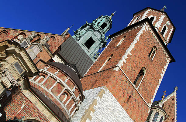 The Cathedral Basilica of St Stanislaw Vaclav stock photo