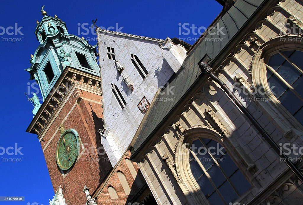 The Cathedral Basilica of St Stanislaw Vaclav royalty-free stock photo