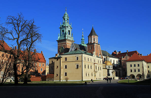 The Cathedral Basilica of St Stanislaw & Vaclav stock photo