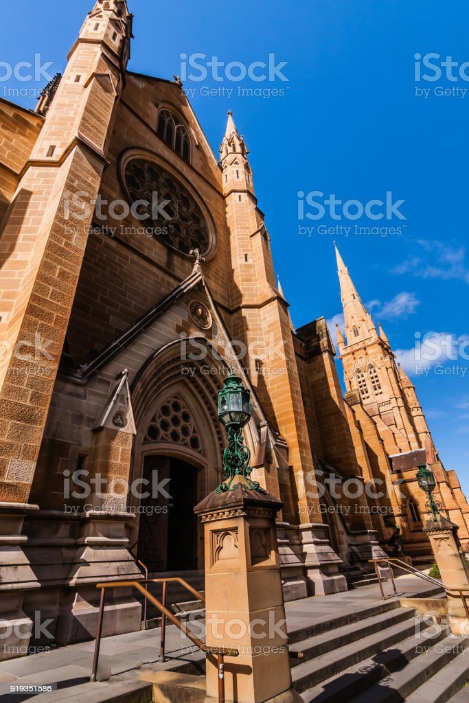 The Cathedral Church and Minor Basilica of the Immaculate Mother of God, Help of Christians, Sydney stock photo
