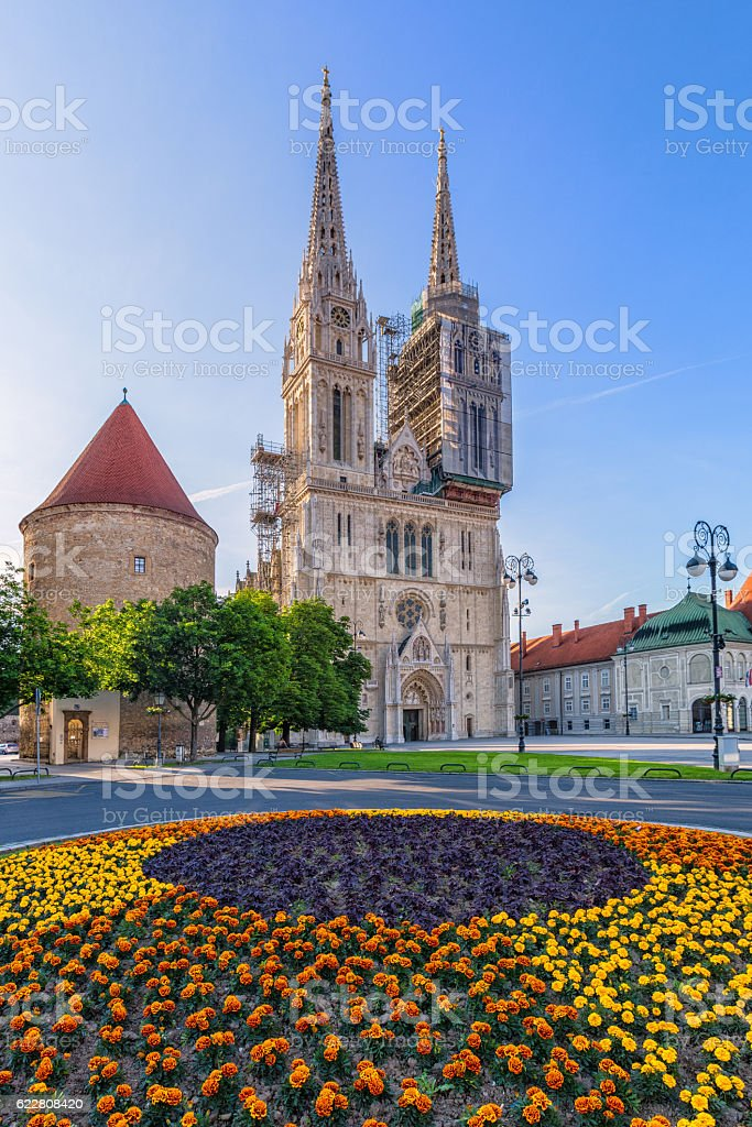 The Cathedral of Assumption of the Blessed Virgin Mary stock photo