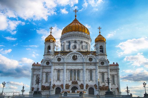 The Cathedral of Christ the Savior. Russia. Moscow.