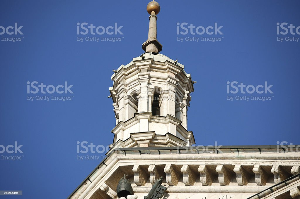 The cathedral of Cremona - Italy royalty-free stock photo