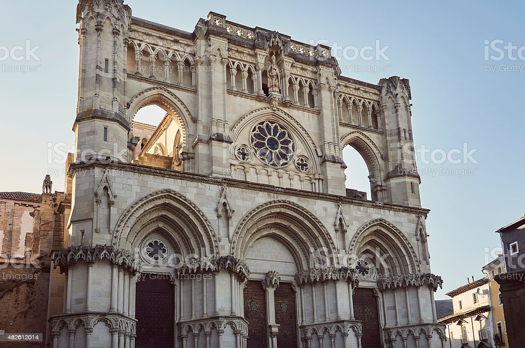 The Cathedral of Cuenca in Spain stock photo