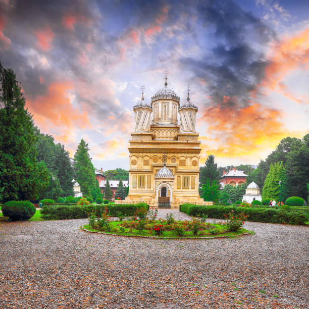 The Cathedral of Curtea de Arges stock photo
