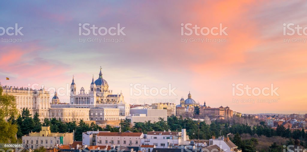 The Cathedral of Madrid stock photo