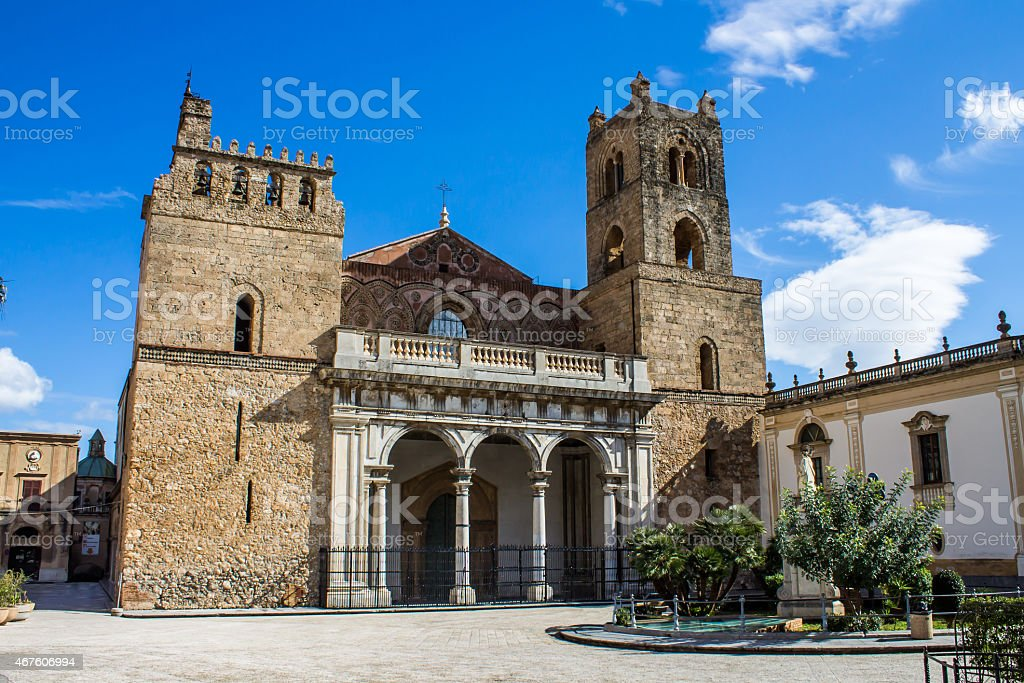 The Cathedral of Monreale, near Palermo, Italy stock photo