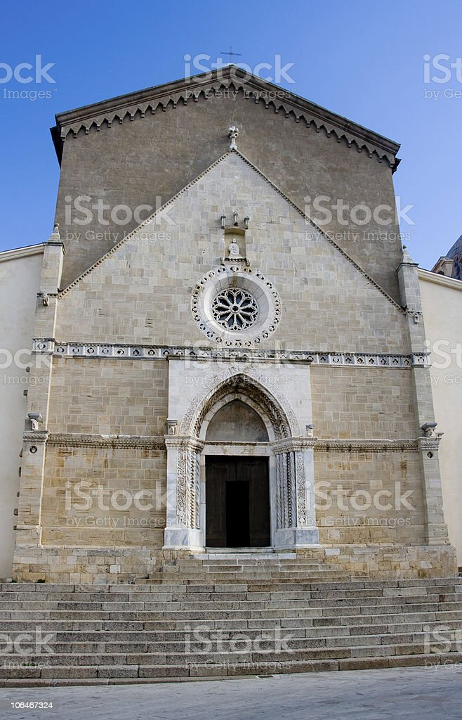 The Cathedral of Orbetello - Front view royalty-free stock photo
