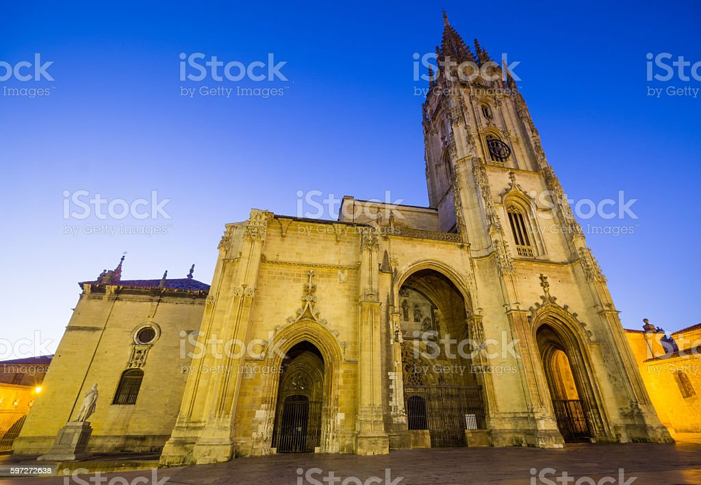 The Cathedral of Oviedo royalty-free stock photo