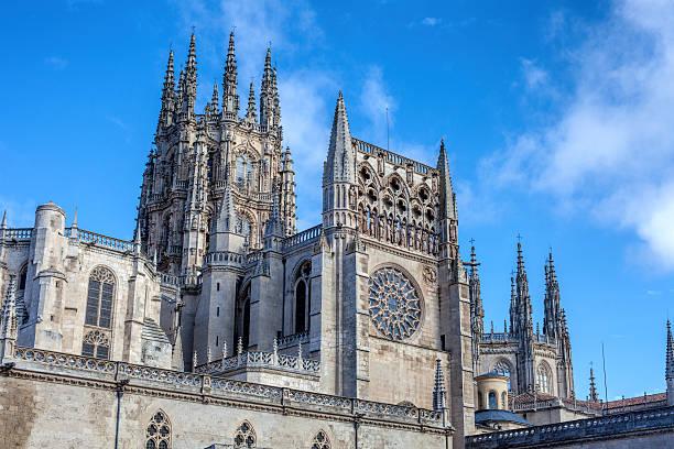 the cathedral of saint mary of burgos - burgos fotografías e imágenes de stock
