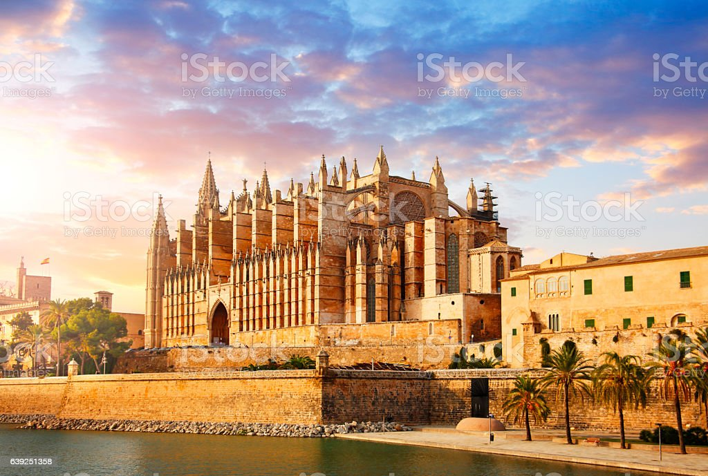 The Cathedral of Santa Maria of Palma stock photo