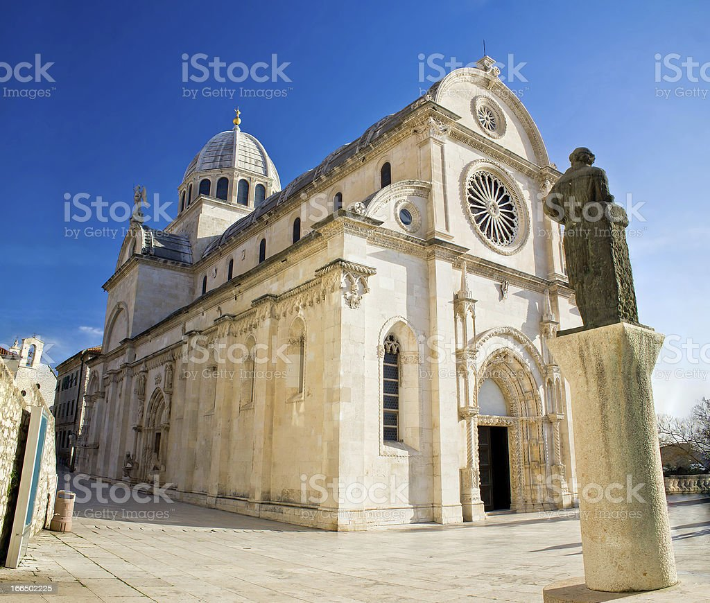 The Cathedral of St James in Sibenik stock photo