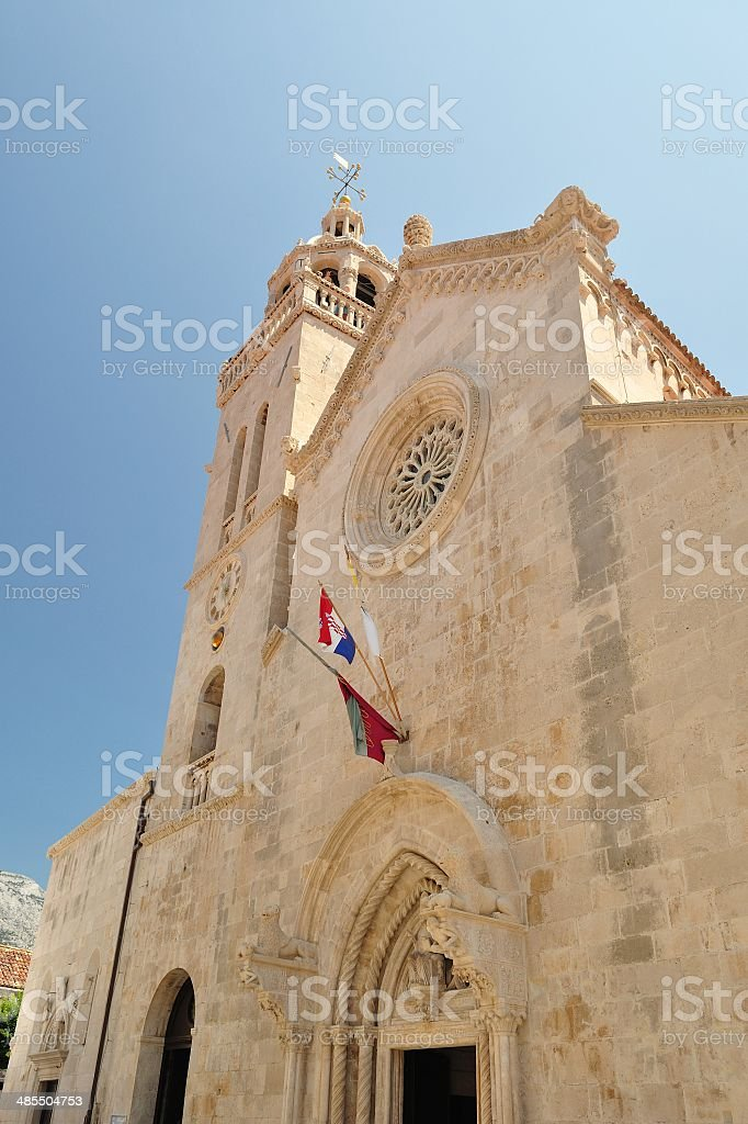 The cathedral of St Marco. Korcula city, Croatia stock photo