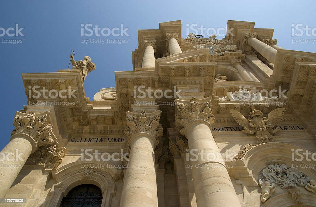 The Cathedral of Syracuse royalty-free stock photo
