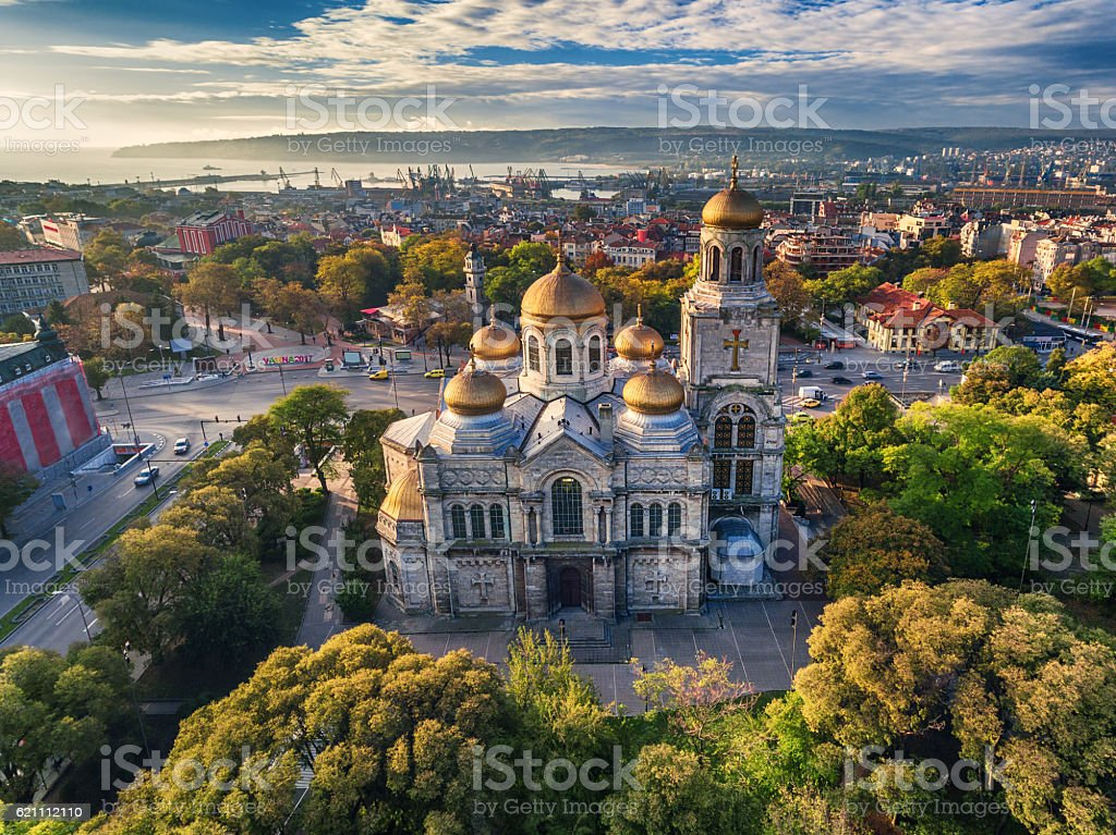 The Cathedral of the Assumption in Varna, Aerial view – Foto