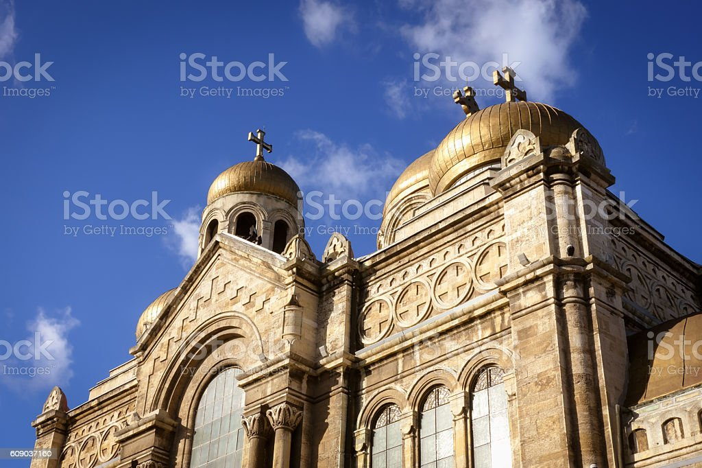 The Cathedral of the Assumption, Varna, Bulgaria stock photo