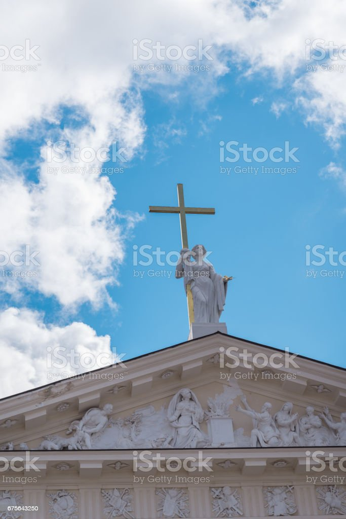The Cathedral of Vilnius Roman Catholic Cathedral in Lithuania royalty-free stock photo