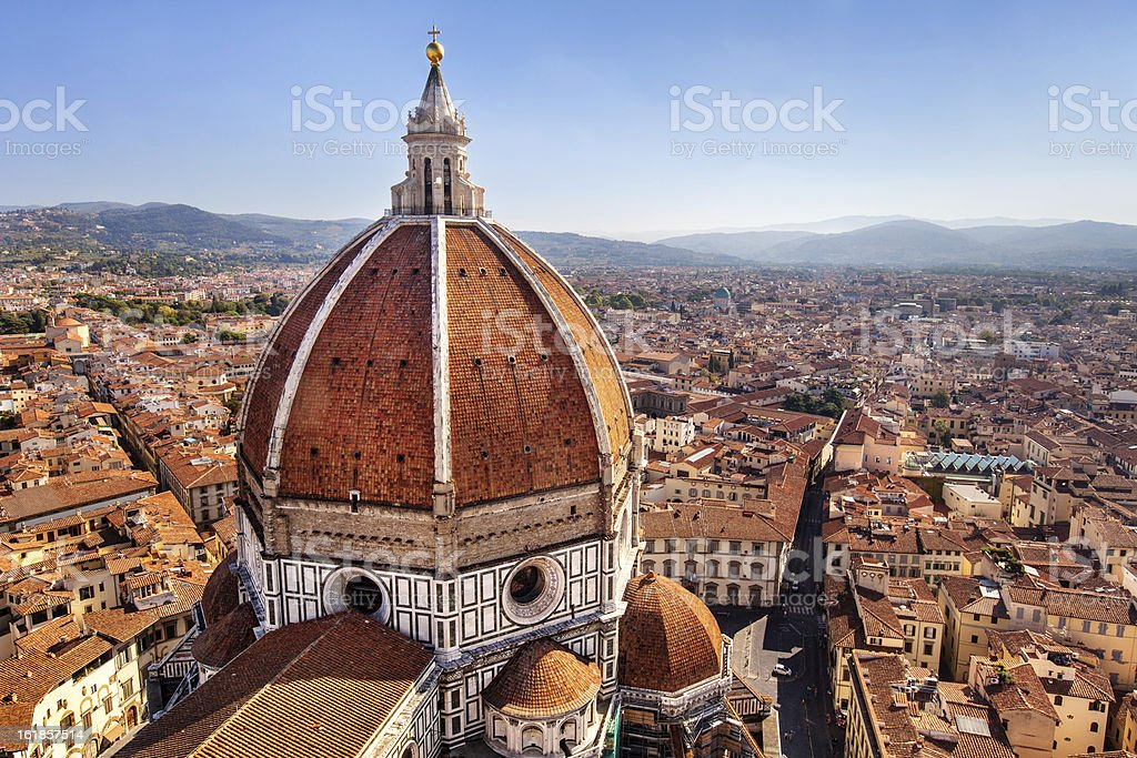 the Cathedral Santa Maria del Fiore in Florence stock photo