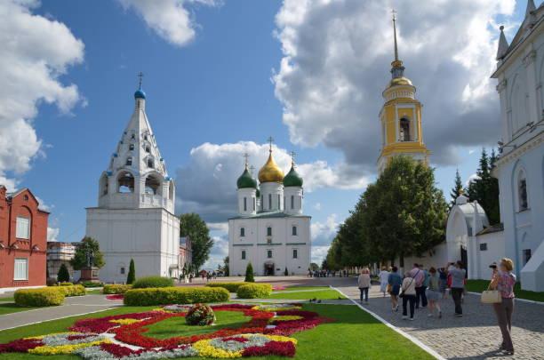 the cathedral square in kolomna kremlin, kolomna, russia - ferragosto foto e immagini stock