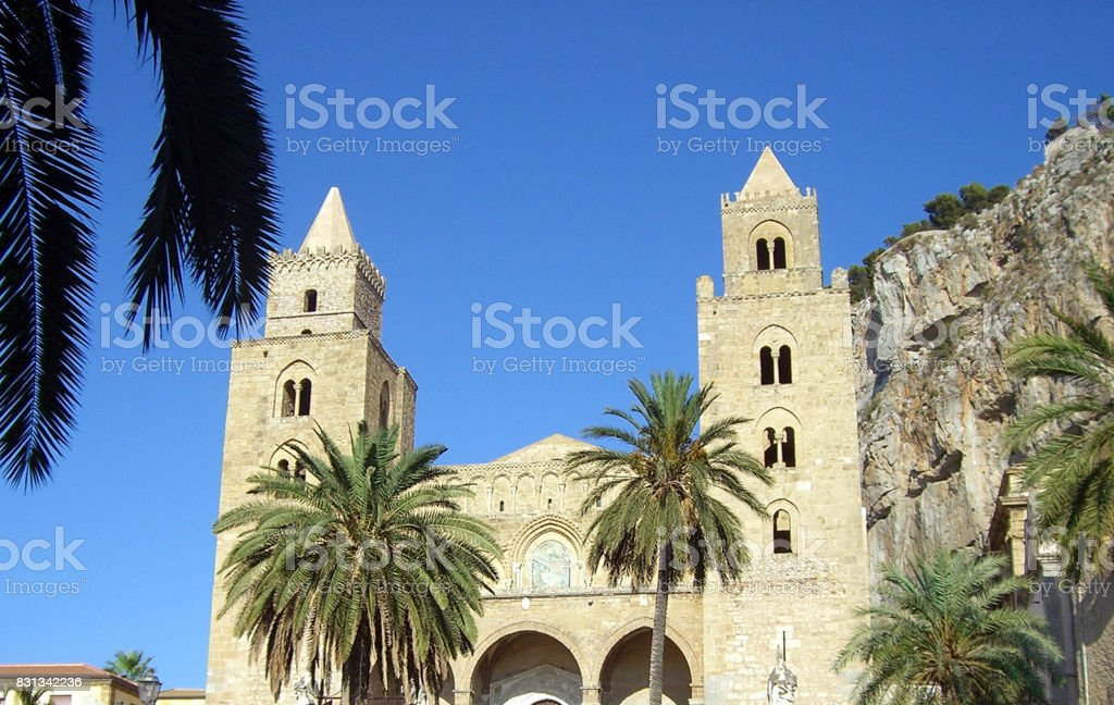 The Cathedral-Basilica of Cefalù stock photo