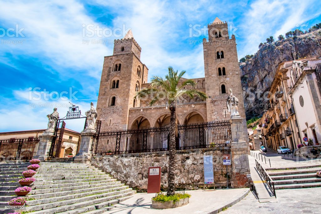 The Cathedral-Basilica of Cefalù, Sicily stock photo