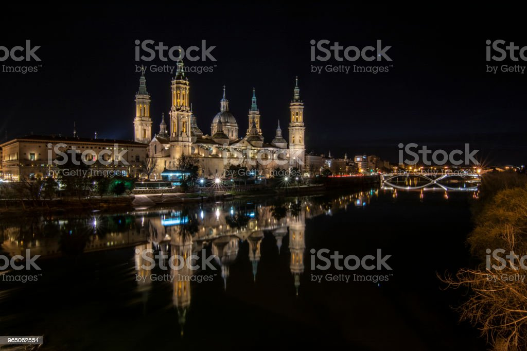 The Cathedral-Basilica of Our Lady of Pilar royalty-free stock photo