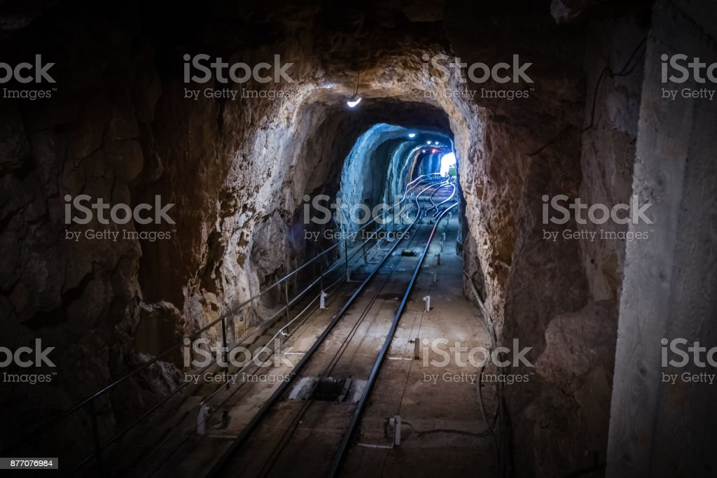 the cave of Demoiselles stock photo