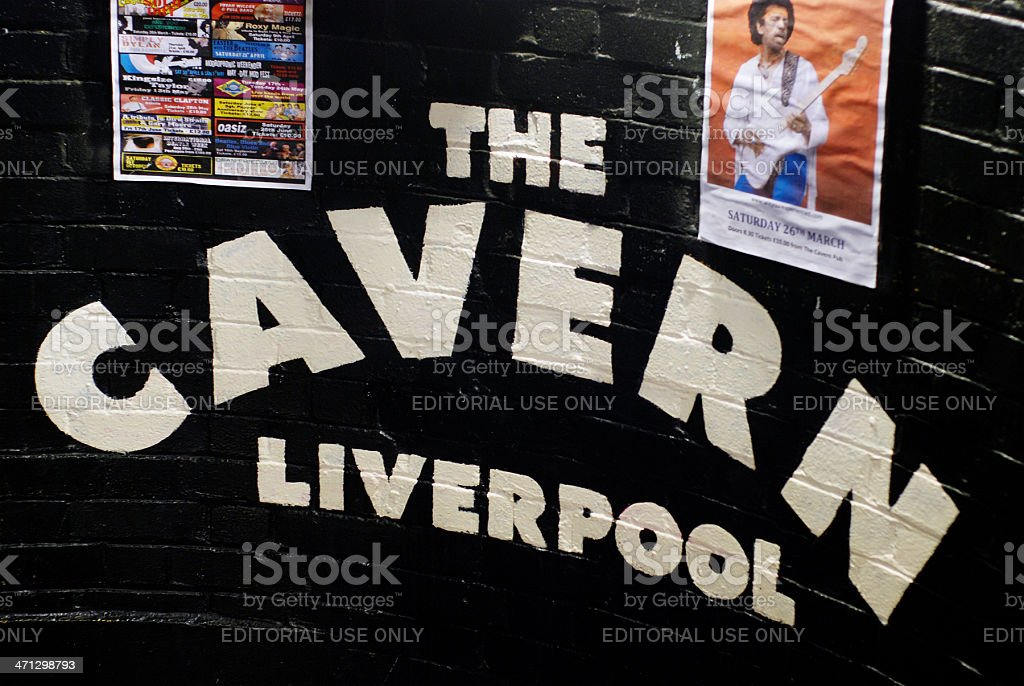 The Cavern club in Liverpool Mathew Street. stock photo