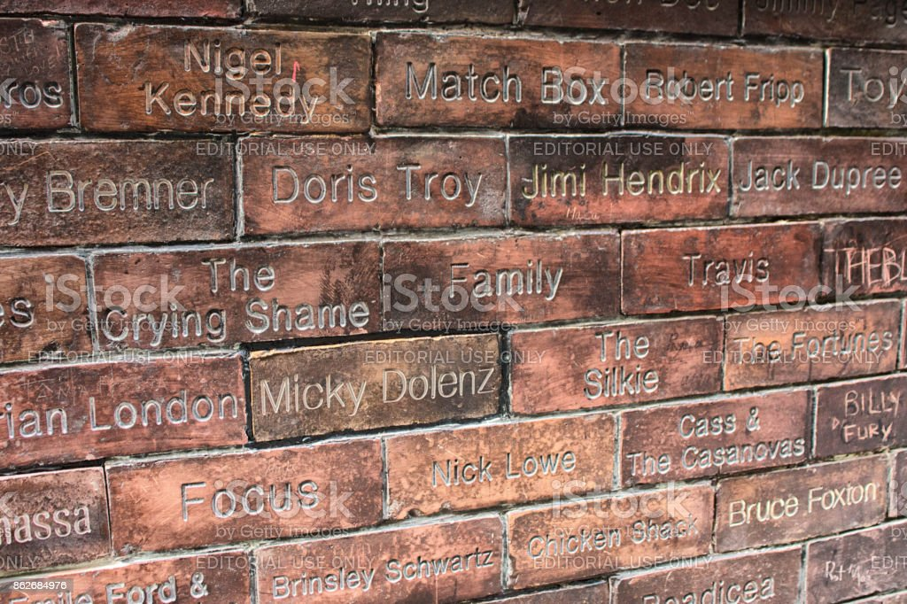 The Cavern wall of fame stock photo