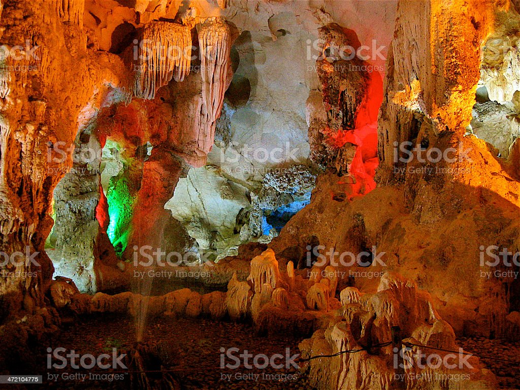 The Caves of Halong Bay stock photo