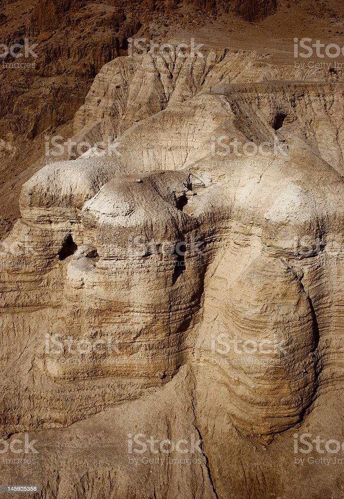 The caves of Qumran royalty-free stock photo