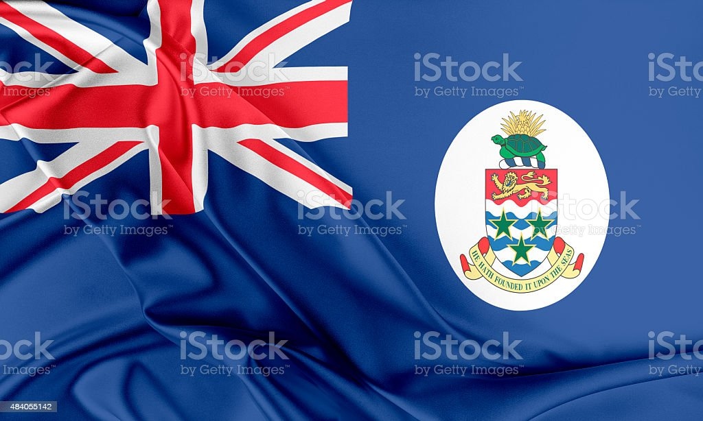 The Cayman Islands Flag stock photo