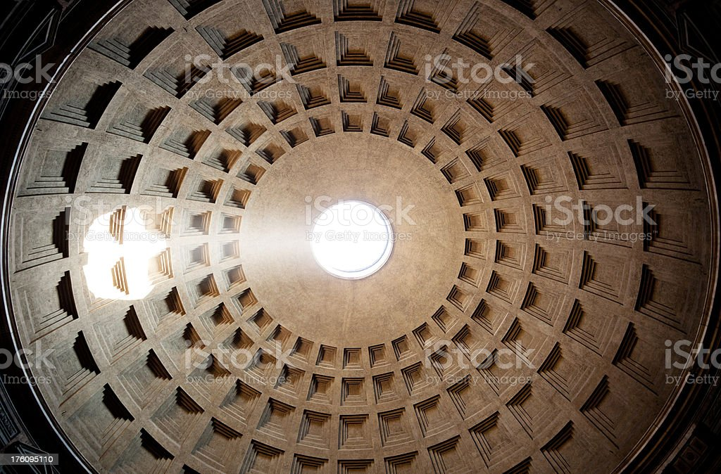 The Ceiling of Pantheon royalty-free stock photo