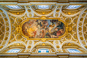istock The ceiling of the Church of Saint Louis of the French in Rome, Italy. 1136885852