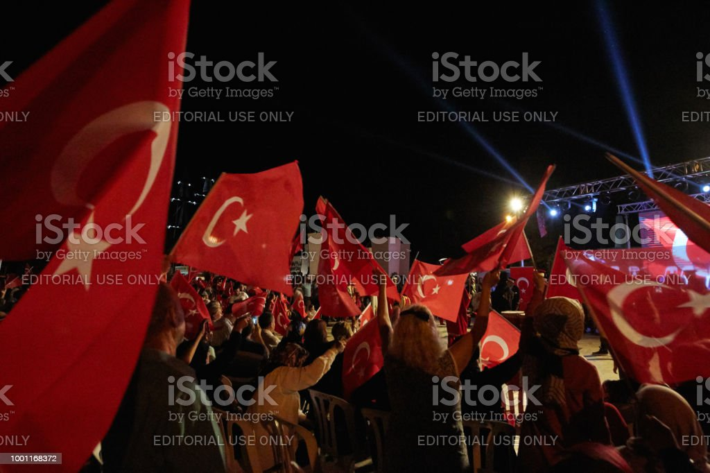 Türkiye'de demokrasinin kutlama stok fotoğrafı