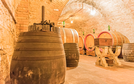 the cellar of Montepulciano