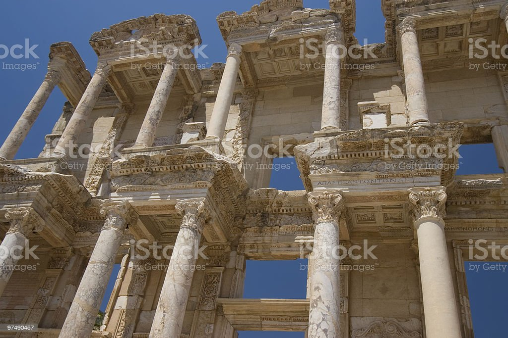 The Celsus Library royalty-free stock photo