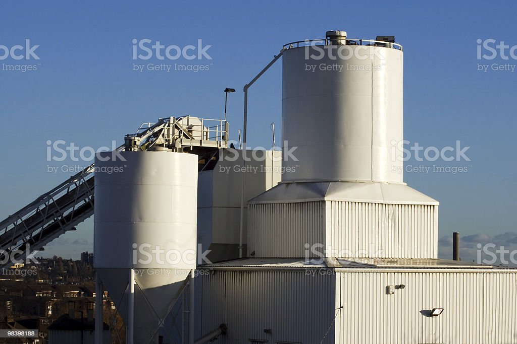 the cement factory royalty-free stock photo
