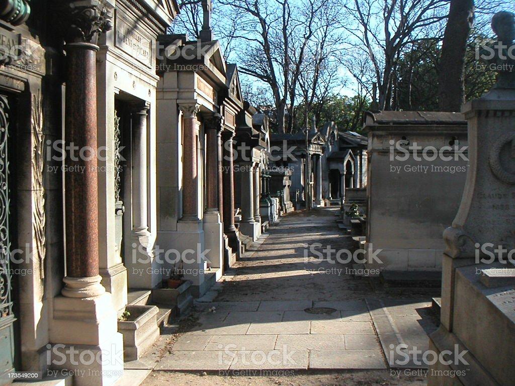 The Cemetery de Montmatre in Paris France. royalty-free stock photo